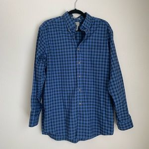 L.L. Beans plaid tradition fit button down
